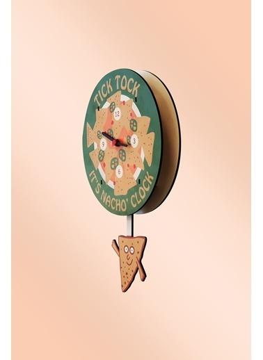 Peoples Clock Nacho Time Sallanan Sarkaçlı Çocuk Odası Duvar Saati Renkli